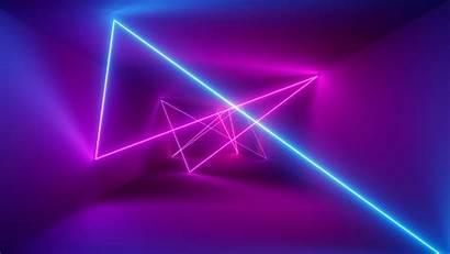 Neon 4k Laser Barrier Wallpapers