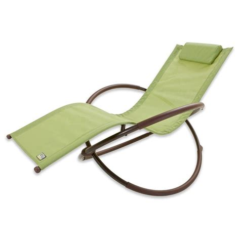 rst brands orbital sling patio lounger chaise in green op