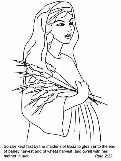 Ruth Bible Coloring Pages Story Naomi Children