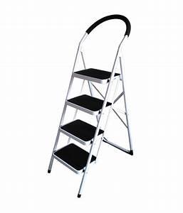 Nilkamal Vesta 4 Step Ladder Black White: Buy Nilkamal