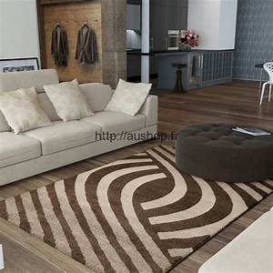 Beautiful tapis salon marron chocolat contemporary for Tapis shaggy avec renovation canapé cuir paris