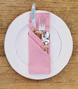 Pliage De Serviette En Tissu : pliages de serviettes faciles pour une table de f te ~ Nature-et-papiers.com Idées de Décoration