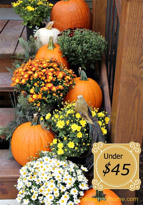 fall pumpkin decorations outside under 45 for fall porch designsofhome com thanksgiving pinterest porch fall decor and
