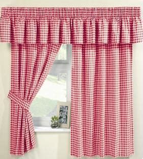 Red Gingham Curtains at www.perfectlyboxed.com