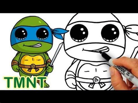 How to Draw Teenage Mutant Ninja Turtle Leonardo Cute step