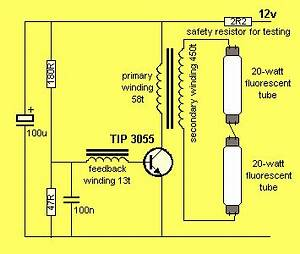 12V Fluorescent Light Inverter
