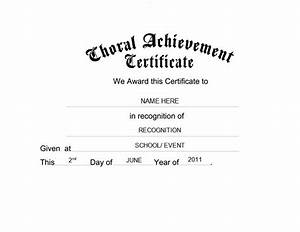 choral achievement certificate free templates clip art With choir certificate template