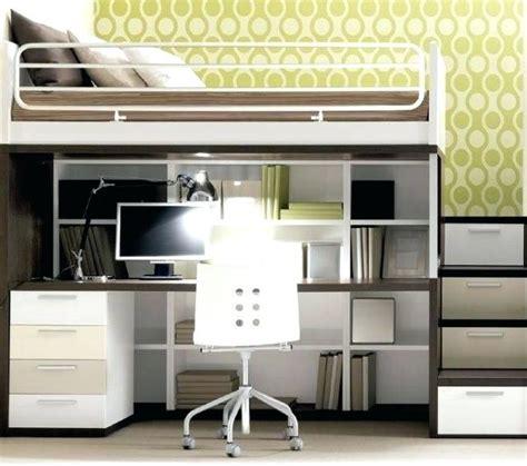 lit en hauteur avec bureau lit mezzanine bureau lit
