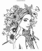 Coloring Pages Rose Para Adult Sheets Dibujos Colorear Books Adults Colouring Printable Adultos Faces Flowers Fairy Colour Lady Face Guardado sketch template