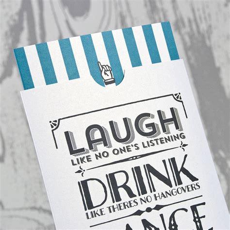 vintage typography wallet wedding invitation by love wedding print notonthehighstreet com