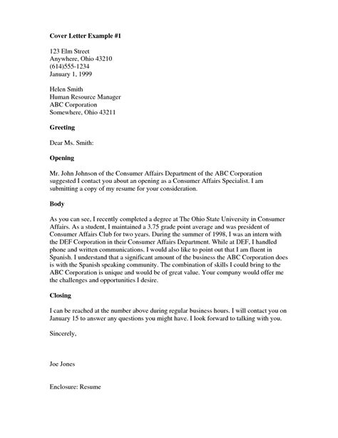 Generic Cover Letter Greeting by Resume Exles Templates Cover Letter Salutations With