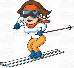 ski sticks Clipart - Cartoon Images