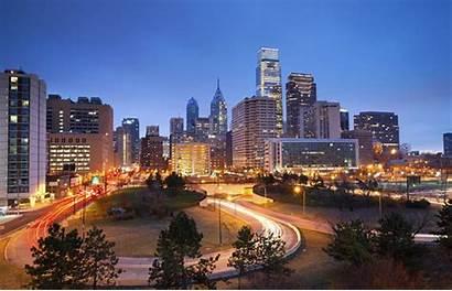 Philly Philadelphia Cities Justice Sanctuary Night Skyline