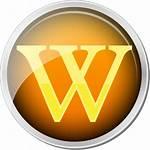 Icon Wiki Wikipedia Svg Orange Commons Archivo