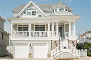 beach house exterior traditional with shore flags and
