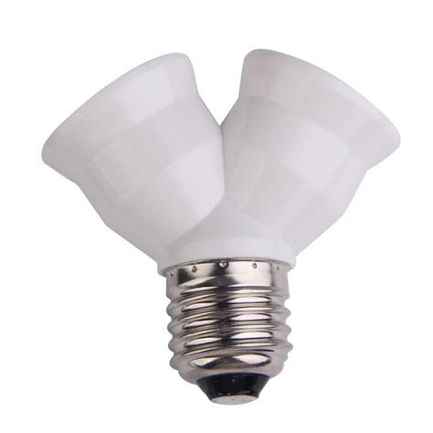 d1u e27 base light l bulb socket 1 to 2 splitter