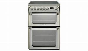 Buy Hotpoint Hue61xs 60cm Double Oven Electric Cooker