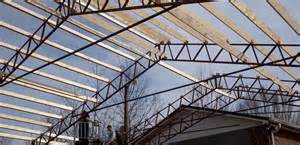 Ceiling Joist Spacing For Drywall by Steel Buildings Steel Building Trusses