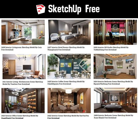 sketchup models  architecture  ware