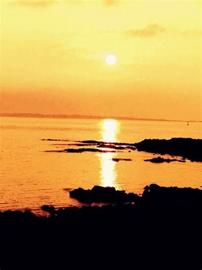 Island Sunset Udo Jeju Nice Charming Romantic