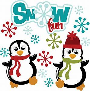 Snow Fun SVG winter svg files snow svg files penguin svg ...