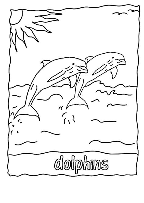 dolphin coloring pages getcoloringpagescom