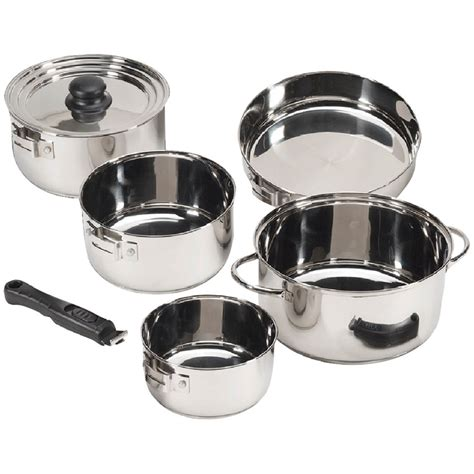 Stansport 7 Pc Stainless Steel Cookware Set  Cooking