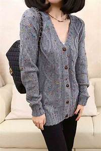 gray v neck buttons up cardigan sweater 009145 sweaters
