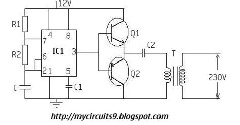 Simple Inverter Circuit Using Timer Mycircuits