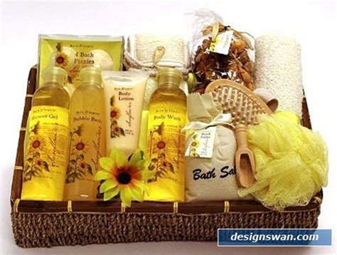Sunflower Bath Gift Set by 20 Beautiful Gift Baskets For Design Swan