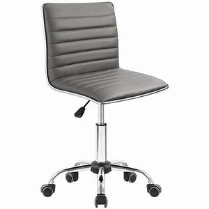 Walnew, Task, Chair, Desk, Chair, Mid, Back, Armless, Vanity, Chair, Swivel, Office, Rolling, Leather