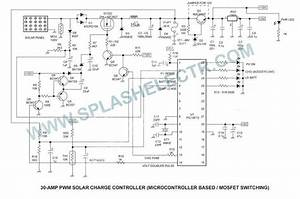 splash electr pwm solar charge controller circuit and With solar charge controller wiring diagram