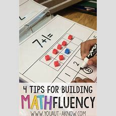 4 Tips For Building Math Fluency  Build Math, Autism Classroom And Special Education