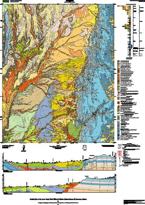 geologic map    grand wash cliffs  vicinity
