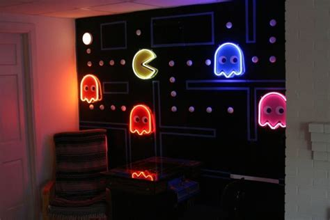Pacman Wall  Home Game Room Pinterest