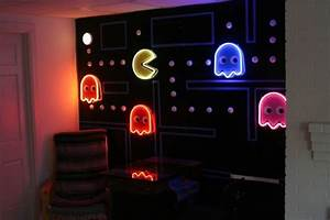 pacman wall home game room pinterest With pacman wall decals gamers room ideas