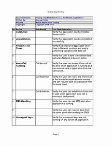Testing checklist for mobile applications by anurag khode for Mobile application testing documents