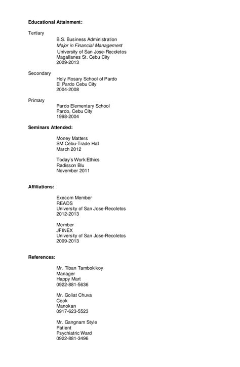 sle targeted resume