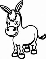 Donkey Cartoon Coloring Printable Clipart Drawings Clipartmag Cartoons Outline Sheets Cool sketch template