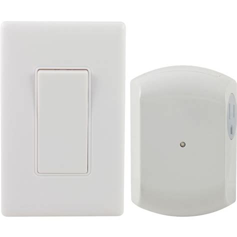 ge 18279 wall switch light remote with 1 outlet receiver