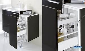 Meuble Salle De Bain Gain De Place : meuble de salle de bain gain de place lido c ram espace ~ Dailycaller-alerts.com Idées de Décoration