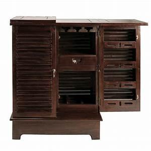 Meuble De Maison : meuble de bar en mahogany massif l 80 cm planteur maisons du monde ~ Teatrodelosmanantiales.com Idées de Décoration
