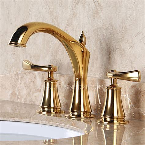 Designer Faucets Bathroom by Designer Polished Brass Three Holes Decorative Bathroom
