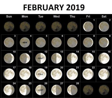 february  moon phases calendar moon calendar moon