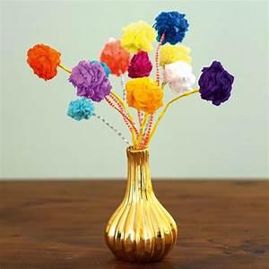 Blumen Aus Seidenpapier : papierblumen aus mini pompoms ~ Orissabook.com Haus und Dekorationen