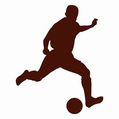 Soccer Silhouette Player Football Figure Silhouettes Transparent