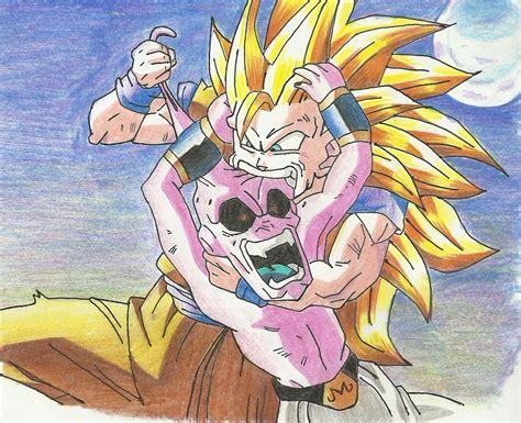 Majin L Vs Goku by Goku Vs Majin Boo By J S S C On Deviantart