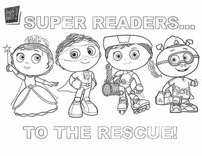 Coloring Characters Rescue Superwhy Super Why Pages