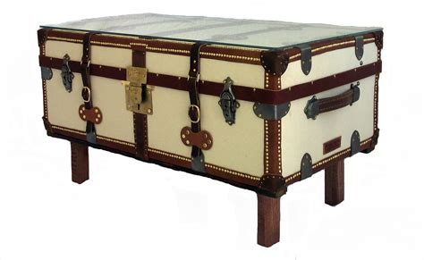 French Antique Trunk Coffee Table  Omero Home