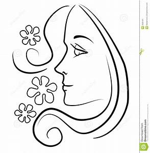 clip art of a girl face | clip art outline illustration of ...